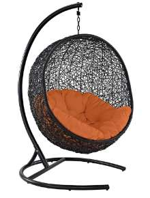 Modway EEI-739-ORA-SET Egg Swing Chair