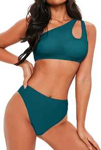 FAFOFA One-Shoulder Two-Piece Swimsuit