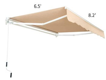 AECOJOY Retractable Outdoor Sunsetter awning