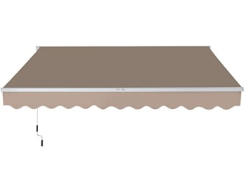 Outsunny Exterior Manual Window canopy Awning