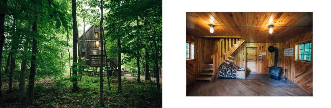 cabane dans les bois quebec proche montreal