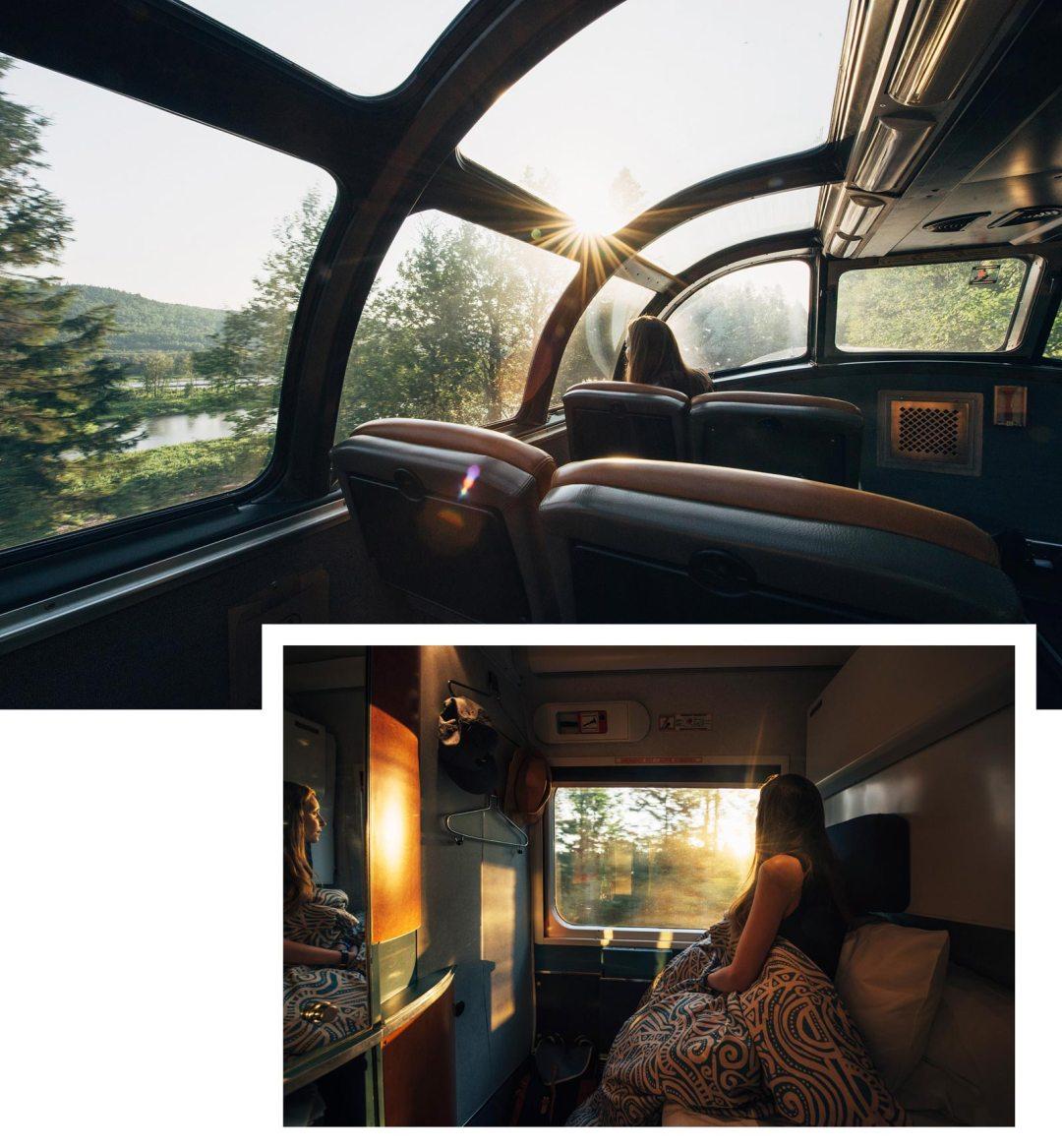 train panoramique canada via rail
