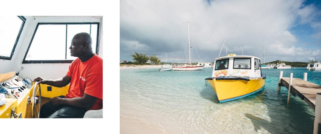 Elvis water taxi, Exumas, Bahamas