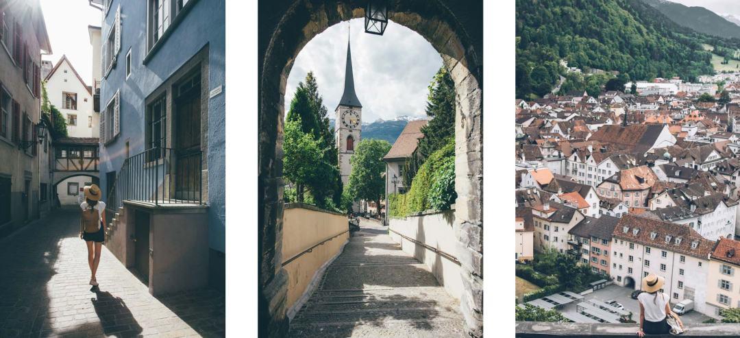 La vieille ville de Coire en Suisse