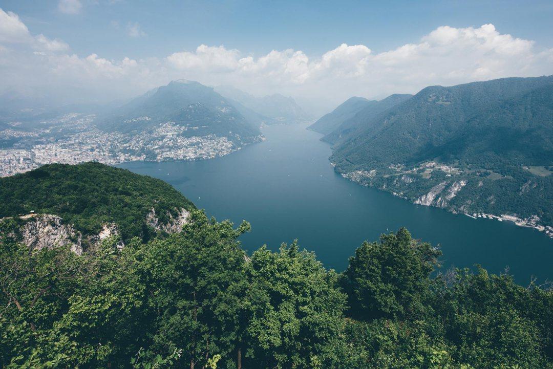 Vue depuis San Salvatore, Lugano