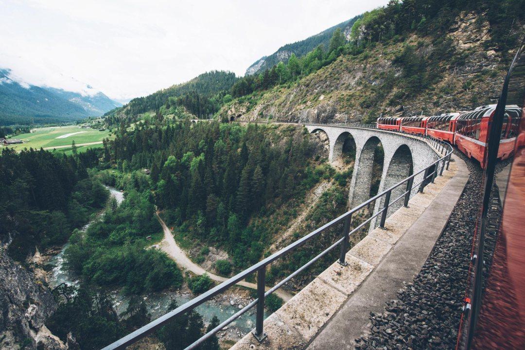 Viaduc de Landwasser, Bernina Express, Suisse