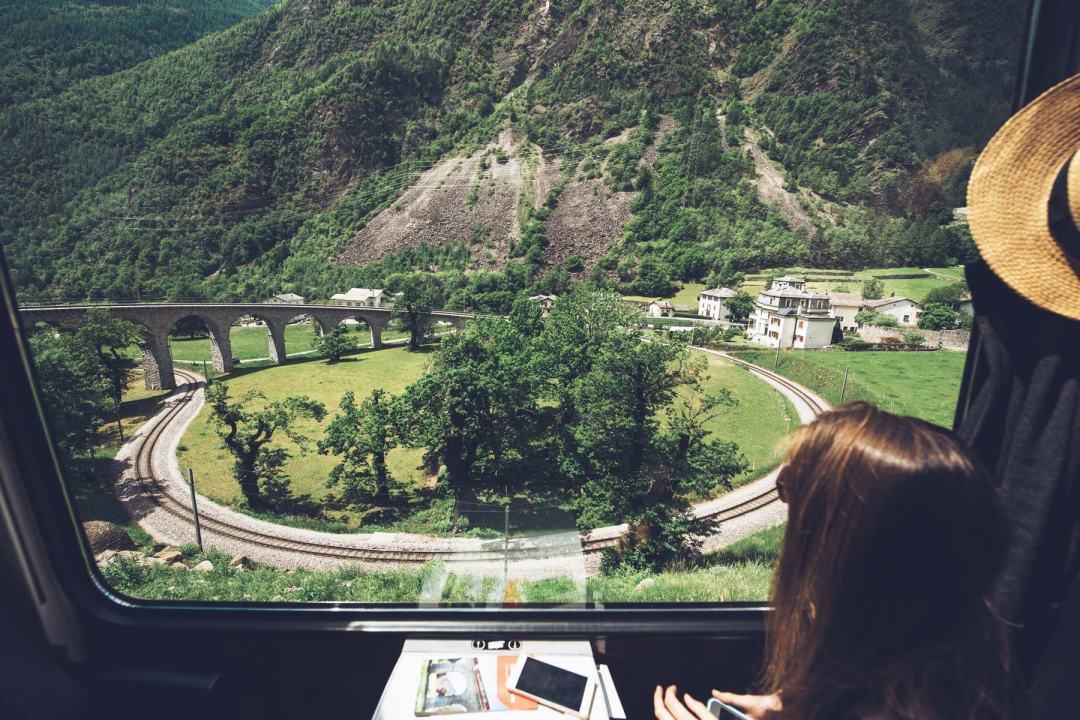 Viaduc circulaire de Brusio, Suisse