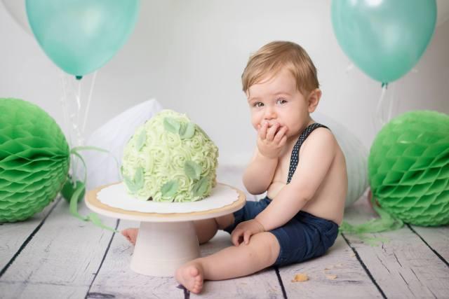 cakesmash eerste verjaardag