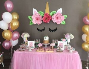 Unicorn tafel decoratie 2