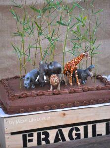 verjaardagstaart safari