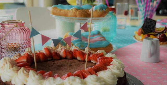 gender reveal taartenbuffet zoet