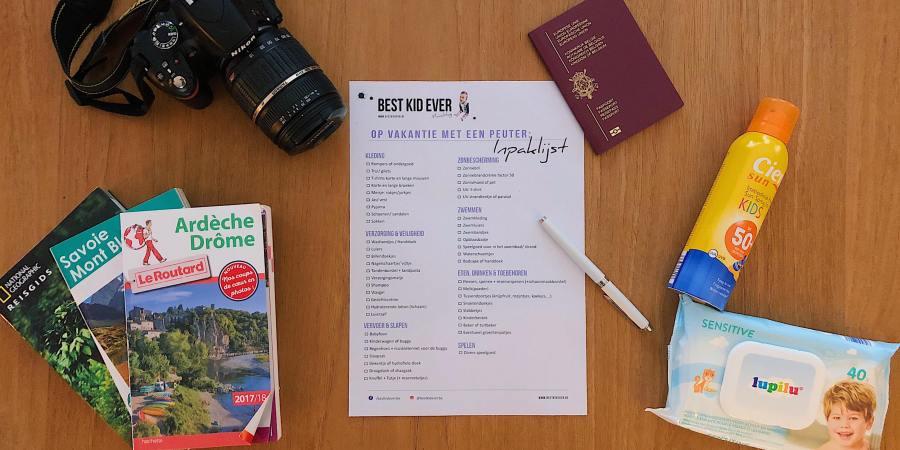 Inpaklijst - vakantie met peuter