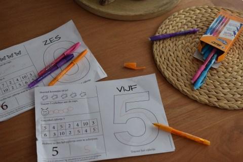 cijferplaten leren schrijven