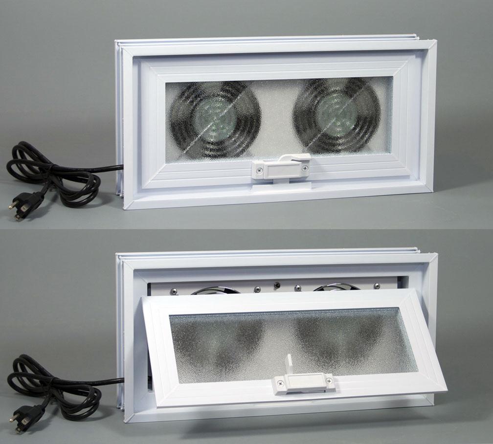 crawl space window exhaust fans
