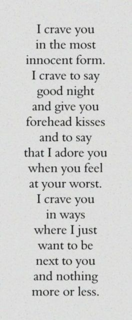best love quotes- i crave you in the most innocent form