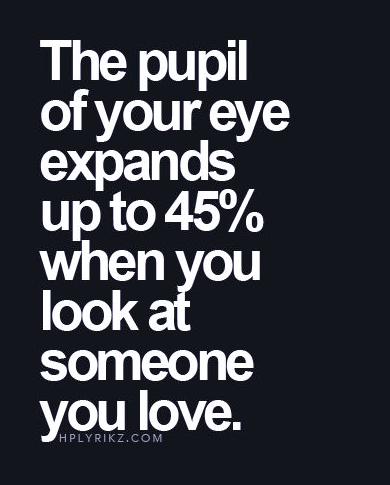 Best Of Love Quotes The Pupil Of Your Eye Expands When You Look At