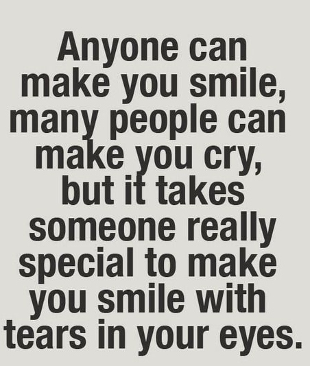 Anyone Can Make You Smile Many People Can Make You Cry But It