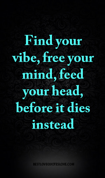 Find Your Vibe Free Your Mind Feed Your Head Before It Dies Fascinating Free Your Mind Quotes