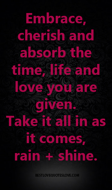 Best Love Quotes Embrace Cherish And Absorb The Time Life And Love