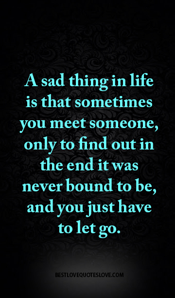 A Sad Thing In Life Is That Sometimes You Meet Someone Only To Find