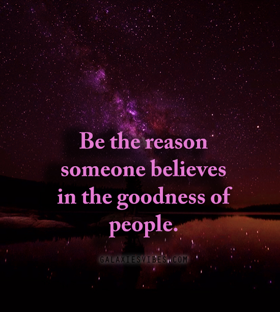 the goodness of people