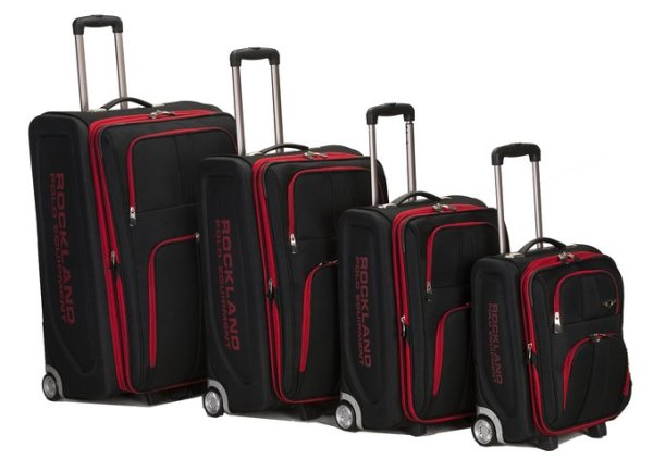 Rockland Luggage Varsity Polo Equipment 4 Piece Luggage Set Review
