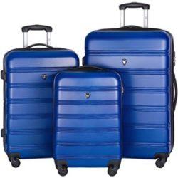 Merax Travelhouse Luggage Set 3 Piece Expandable Lightweight Spinner Suitcase