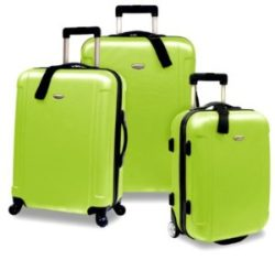 Travelers Choice Freedom 3 Piece Lightweight Hard-Shell Spinning Rolling Luggage Set