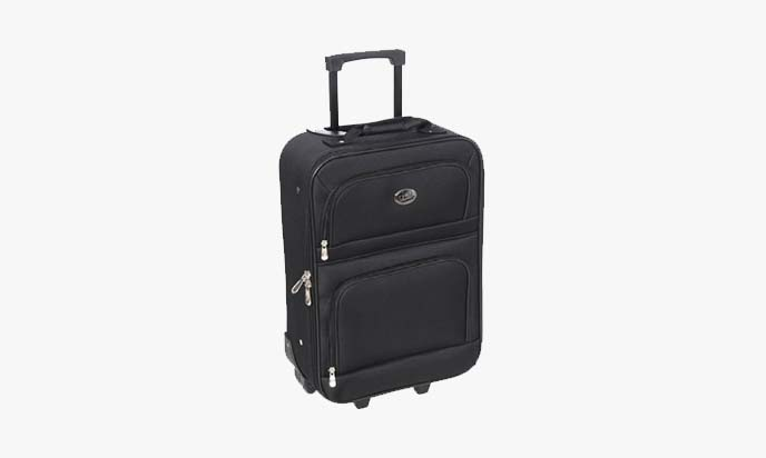 Jetstream Travel Carry On Suitcase On Wheels With Extendable Handle