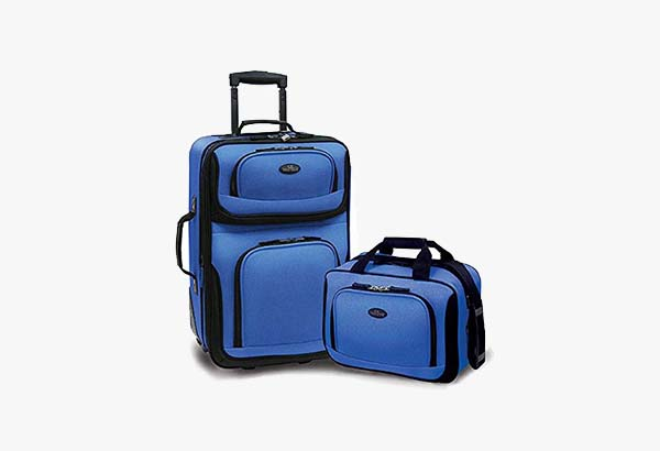 U.S Traveler Rio Two Piece Expandable Carry-on Luggage Set