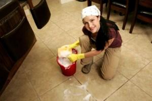 bleach-cleaning