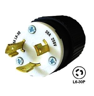 30 Amp 250v L6 30p Male Twist Type Locking Power Plug