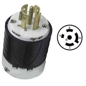 20 Amp 120208VAC, 4 Pole 5 Wire, Electrical Plug