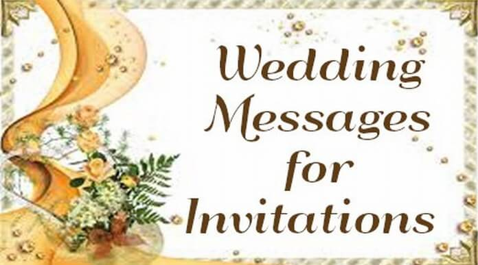 Wedding Invitations Messages