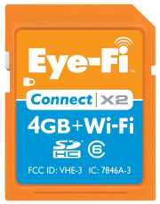 Eye-Fi Connect X2 Wireless Flash SDHC 4 GB Memory Card
