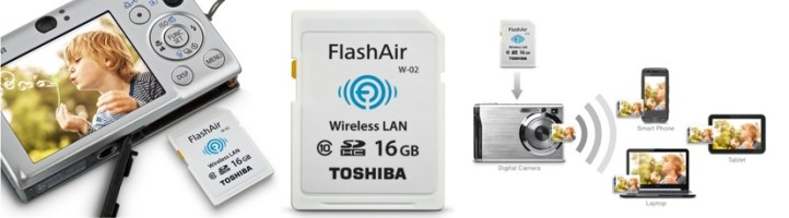 Toshiba Flash Air II Wireless 16 GB SD Memory Card