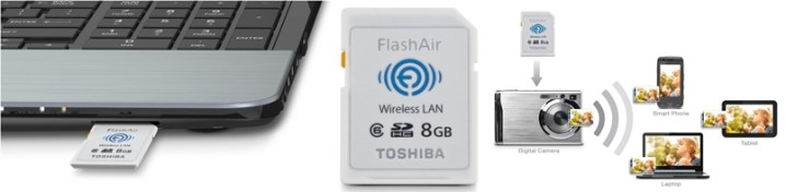 Toshiba FlashAir Wireless SDHC 8 GB Memory Card