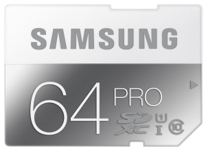 Samsung PRO Class 10 micro SDXC card