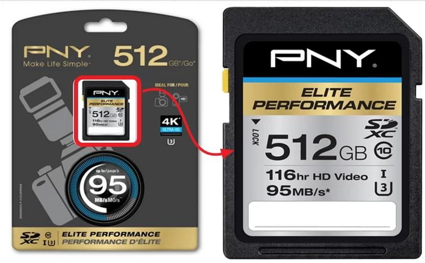 PNY 512 GB Micro SDXC Card