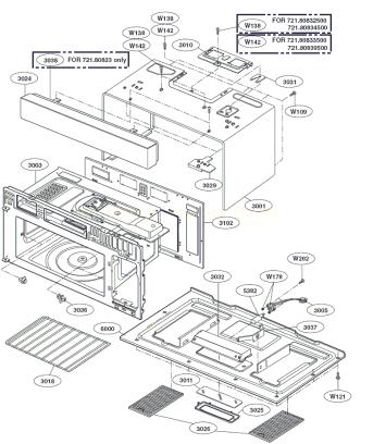 kenmore microwave parts diagram