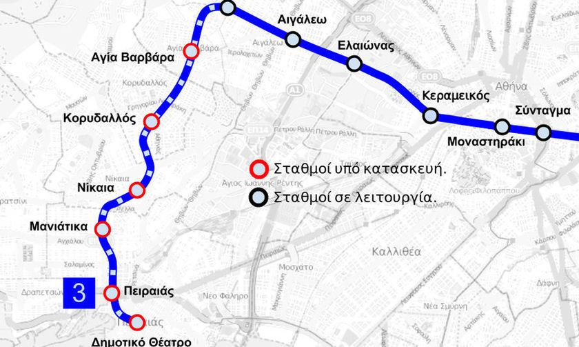 Μετρό έως τη Νίκαια από τις αρχές Ιουλίου – Αυτοί θα είναι οι νέοι σταθμοί