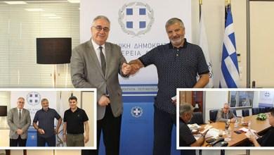 Συνάντηση του Περιφερειάρχη Αττικής Γεωργίου Πατούλη με τον Πρόεδρο της Ένωσης Σεναριογράφων Ελλάδος Αλέξανδρο Κακαβά
