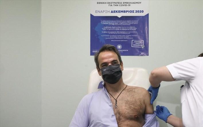 mitsotakis-embolio Πρωθυπουργός Κυριάκος Μητσοτάκης εμβόλιο