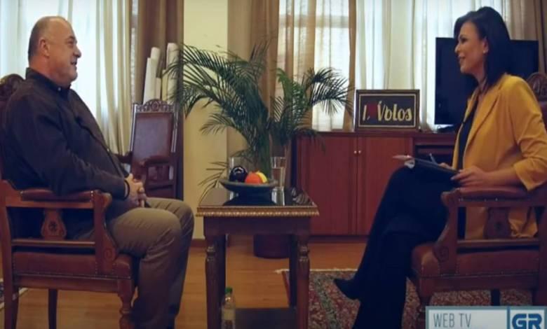 ο δήμαρχος Βόλου, Αχιλλέας Μπέος σε μια εκ βαθέων συνέντευξη στην εκπομπή «SamTimes» της WebTv του GRTimes.gr και τη δημοσιογράφο Μαρία Σαμολαδά.