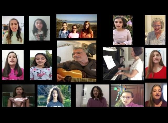Παιδιά στην Πάρο τραγουδούν για την ελπίδα με τον Παντελή Θαλασσινό