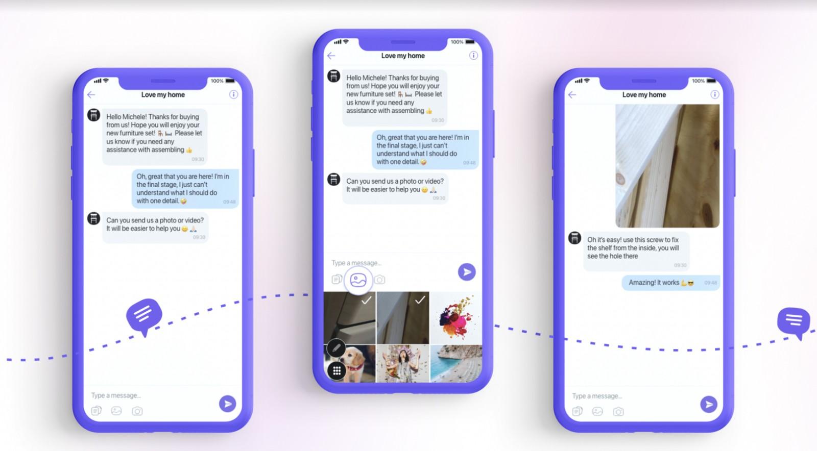 Οι χρήστες του Viber ανταλλάζουν φωτογραφίες και βίντεο με επιχειρήσεις