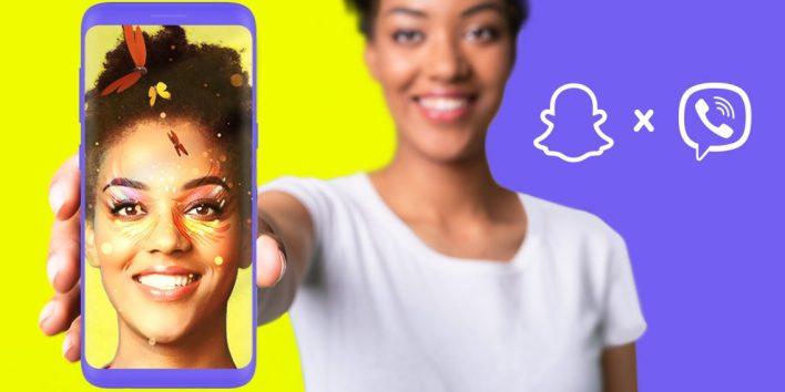 Viber & Snap μαζί! Φακούς AR στα μηνύματα για φωτογραφίες και βίντεο