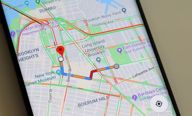 google maps συνωστισμός