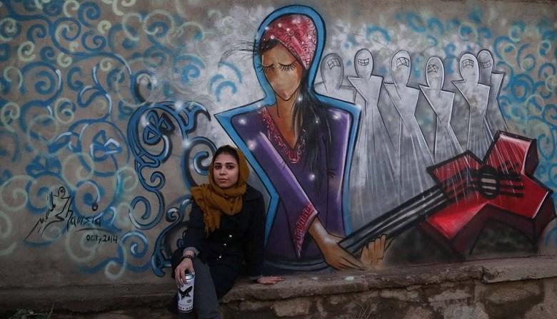 Shamsia Hassani street artist Αφγανιστάν