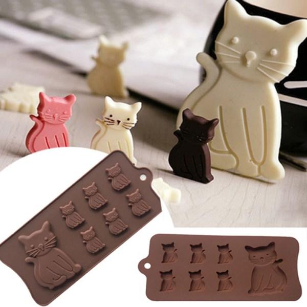 New Cat Kitten 7 Cavity Silicone Mold